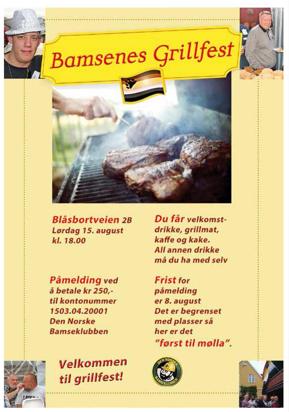 Bamsenes Grillfest 15. august