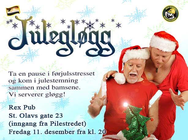 Julegløgg 11. desember kl. 20 på Rex Pub
