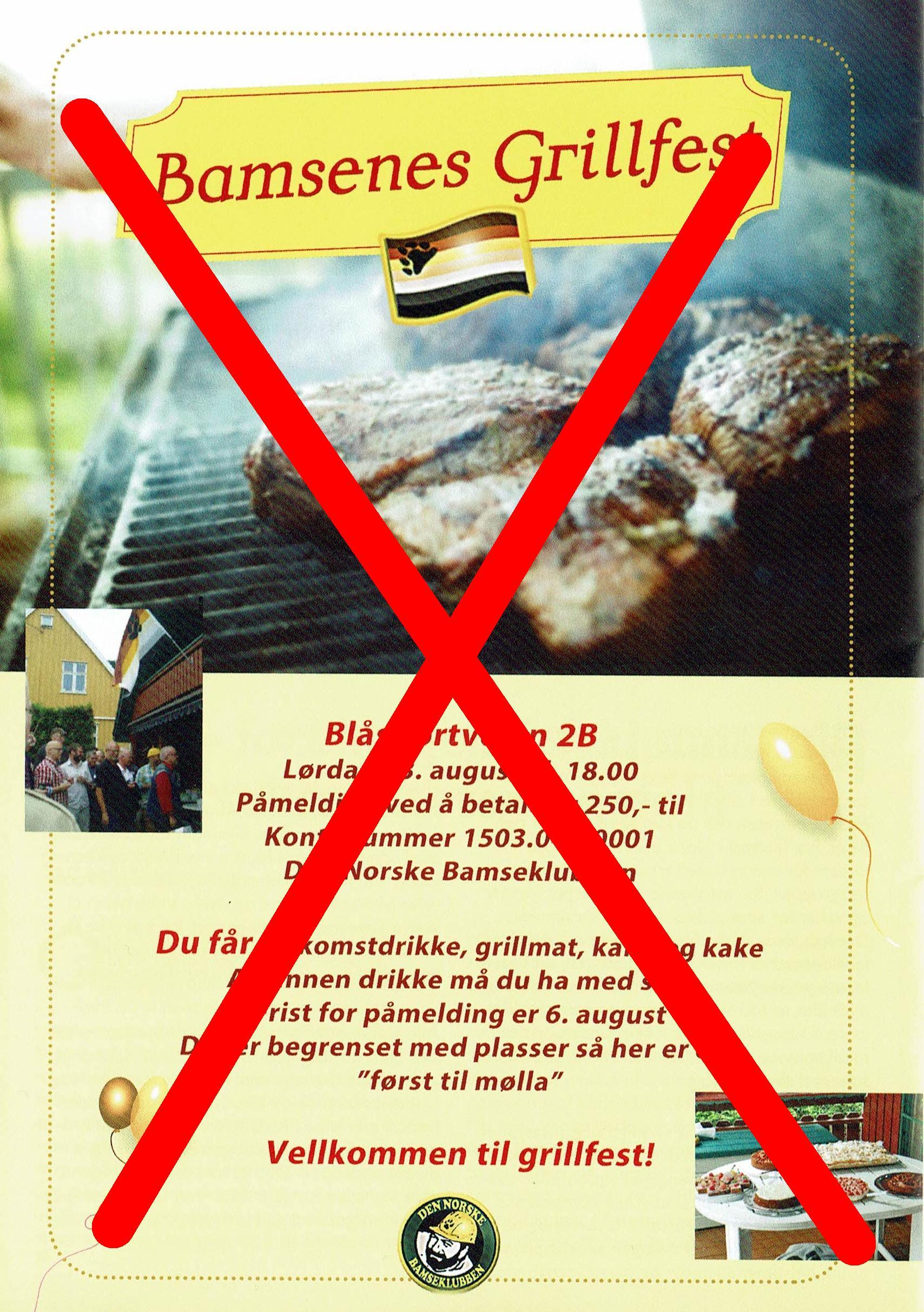 Grillfest 2016 - avlyst