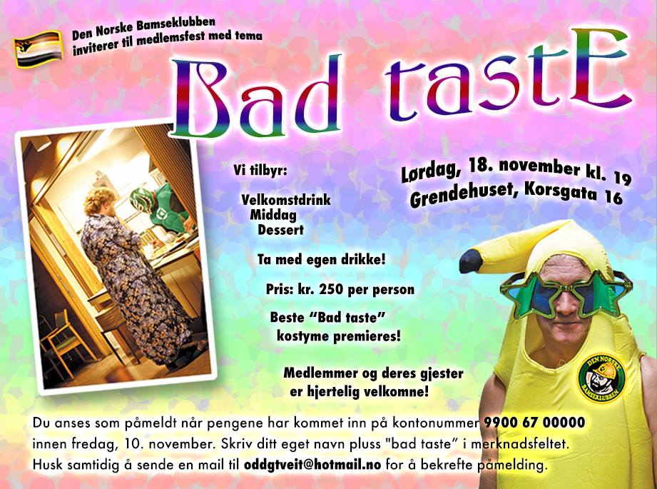 Bad Taste Party, November 2017