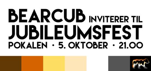 Bearcub inviterer til jubileumsfest på Pokalen 5. oktober kl. 21